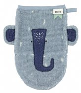 Trixie Washcloth - Mrs. Elephant Blue