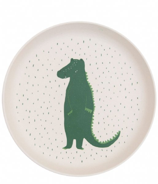 Trixie  Plate - Mr. Crocodile Print