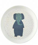 Trixie Plate - Mrs. Elephant Print
