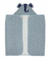 Trixie Hooded towel , 70x130cm - Mrs. Elephant Blue