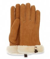 UGG Shorty Glove W/ Leather Trim chestnut