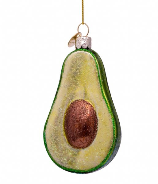 Vondels Kerstversiering Ornament Glass Avocado 9 cm Green